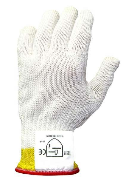 Contacto 6527/008 - Schnittschutzhandschuh extra schwer, Größe M, einzeln (rot)