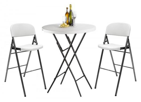 Saro 335-1025+335-1027 - SET Partytisch mit Barstuehlen