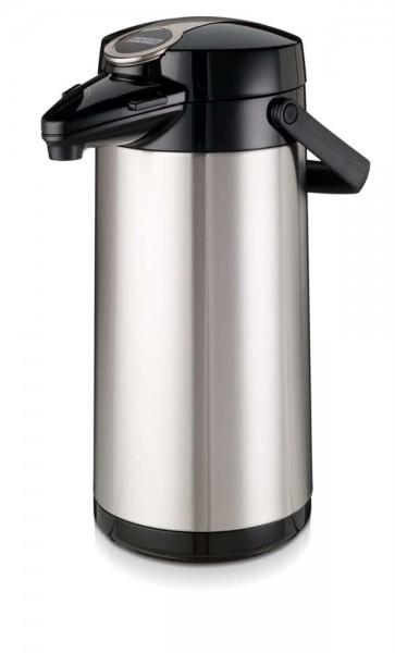 Airpot Furento mit Edelstahlzylinder aus rostfreiem Stahl - 2,2 Liter Kaffeekanne Pumpkanne