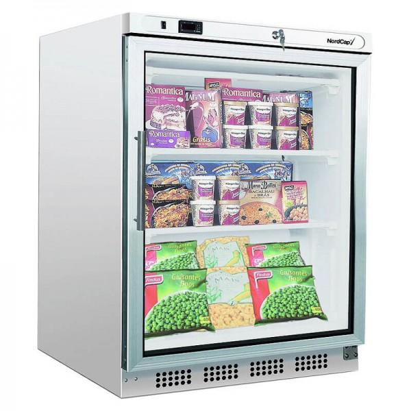 NordCap 455464203 - Gewerbekühlschrank KU 201 G Umluftkühlung, mit Glastür, Mini Kühlschrank