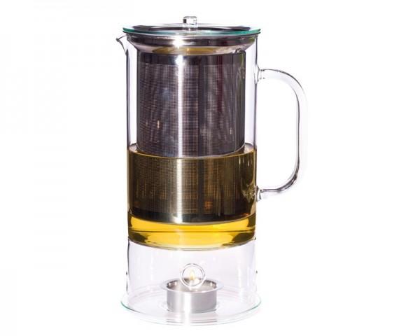 Trendglas Jena 116019 - Teekanne SIGN 1,2l mit integriertem Teewärmer