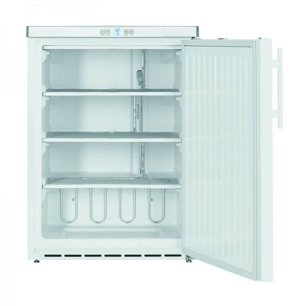 NordCap 405314000 - Gewerbetiefkühlschrank TK 140 W mit statischer Kühlung und Volltür in weiß, unterbaufähig, Mini Tiefkühlschrank