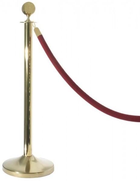 Contacto Absperrpfosten einzeln gold mit Seil 1601/001